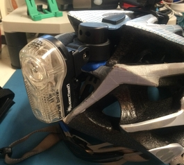 Attach a mounted light to your helmet (after)