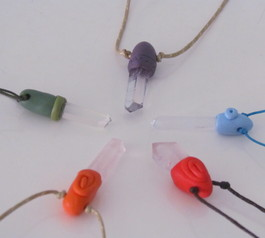 Make gemstone necklaces (after)