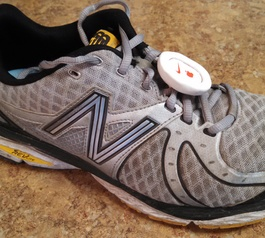 Attach a Nike+ Sensor to your running shoes (after)