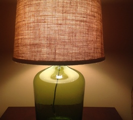 Make a DIY bottle lamp  (after)