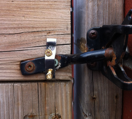 Repair a garden gate latch (before)