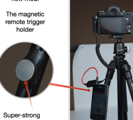 Add a magnetic iPhone mount to a tripod