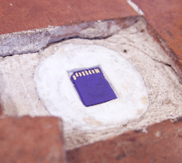 Make a secret hideout for an SD card