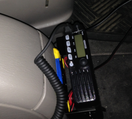 Make a mobile radio mount in your car