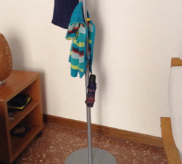 Add hooks for children to a clothes stand