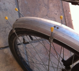 Replace caps on a bike wheel