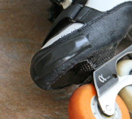 Cover scuffs on Inline skates (after)
