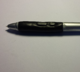 Rebuild the grip on a Wacom Graphire pen (after)