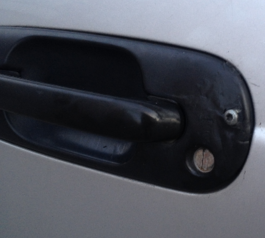 Repair a cracked car door handle (after)