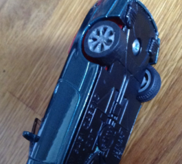 Replace the tyre on a toy car (after)