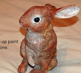 Fix a bunny lawn ornament (after)