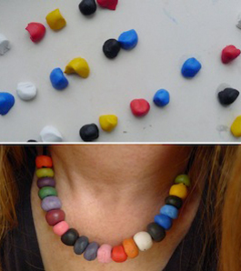 how to make multi coloured sugru jewellery