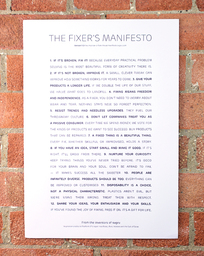 The Manifesto Poster gift bundle