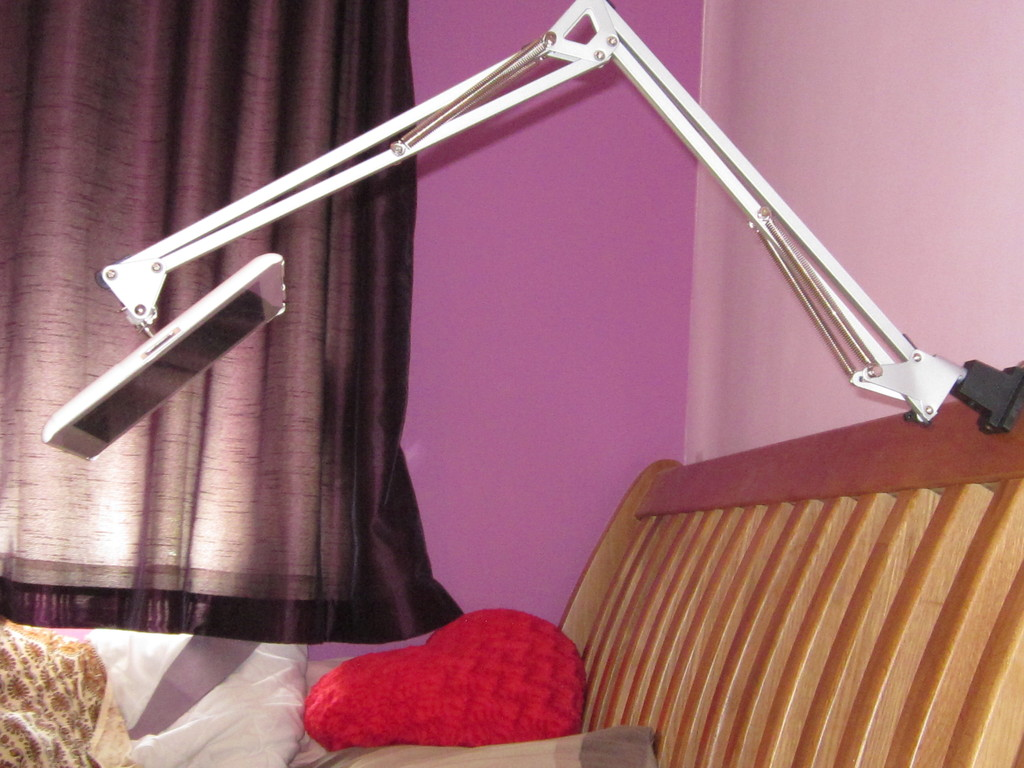 How to make your own bedside ipad stand sugru for How to make a bed stand