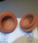 Repair chipped terracotta pots / lids — Step 3