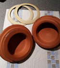 Repair chipped terracotta pots / lids — Step 4
