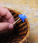 How to improve a knitting basket with a sugru clip — Step 2