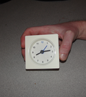 Make a clock steam & moisture-proof
