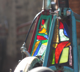 How to make a beautiful stained glass bike light