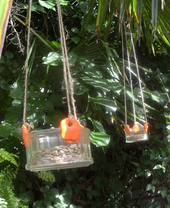 Make bird feeders for the garden