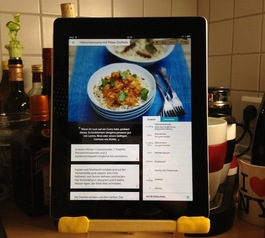Turn an easel into an iPad stand