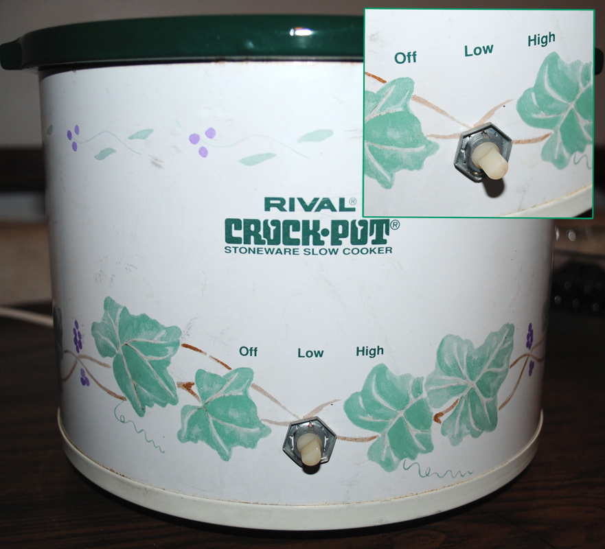 Replace the control dial on a crockpot