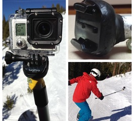 Make a telescoping GoPro mount