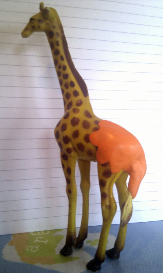 Patch up a beloved toy giraffe!