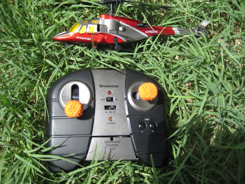 Modify a helicopter remote control