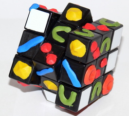 Make a Rubik's cube solvable in the dark (before)