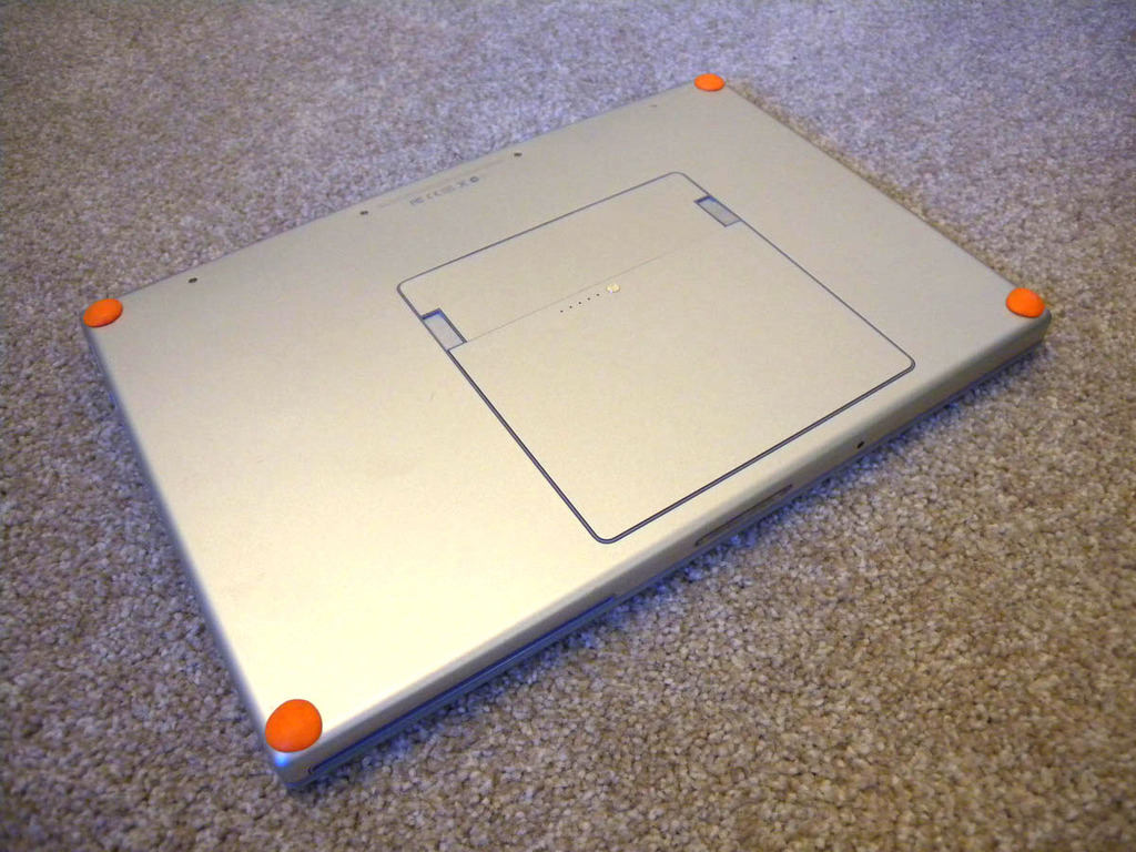 Keep a MacBook cool with bumpers underneath