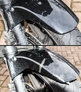 Repair a motorcycle front mudguard