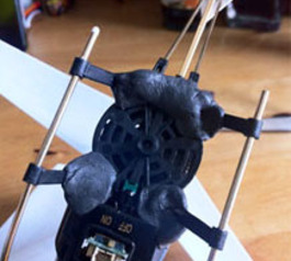 Repair a broken landing gear on an RC-Helicopter