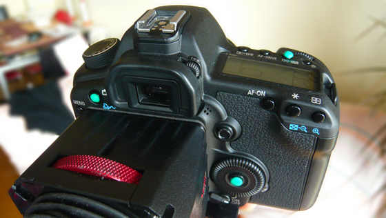 Make DSLR buttons more tactile