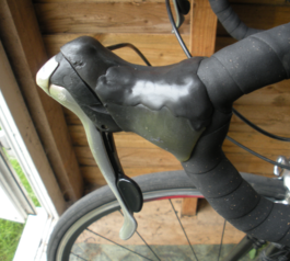 Replace a rubber hood on a bicycle brake lever