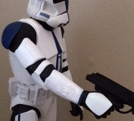 Reattach a toy Storm Trooper's arm
