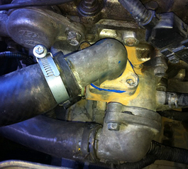 Seal leaky engine joints