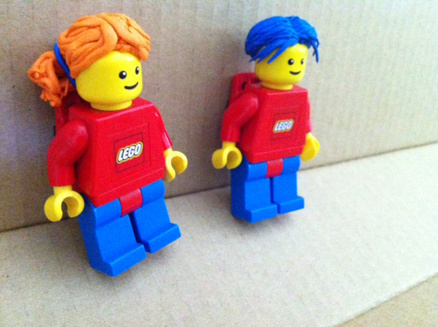 Hairstyles for Lego men