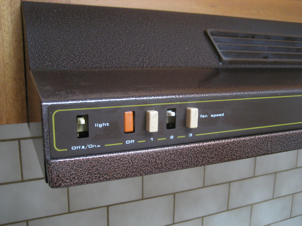 Mend old extractor hood buttons
