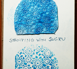 Make a beautiful patterned craft stamp