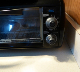Add grips to toaster oven knobs