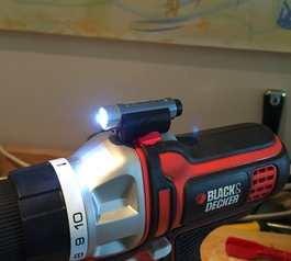 Attach a LED light to a drill