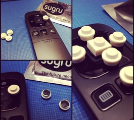 Customise a remote control using Lego