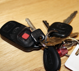 Prevent from pressing the button on a car key fob