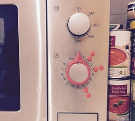 Customise a microwave knob for the visually impaired