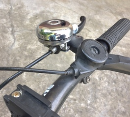 Mount a bell to bike handlebars