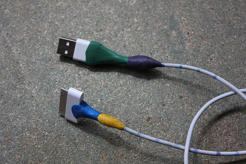 Multicolored Apple cable repair