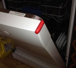 Add bumpers to your dishwasher door