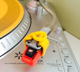 Make a turntable cartridge protector with Sugru