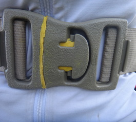 Sugru sound proof backpack buckle